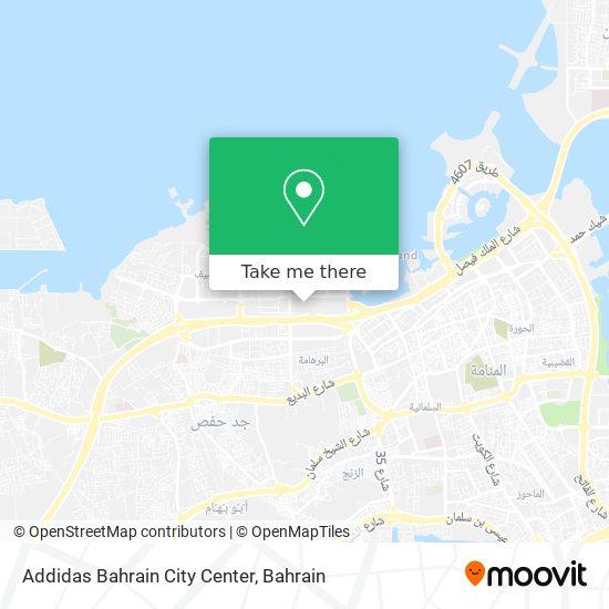 Addidas Bahrain City Center map