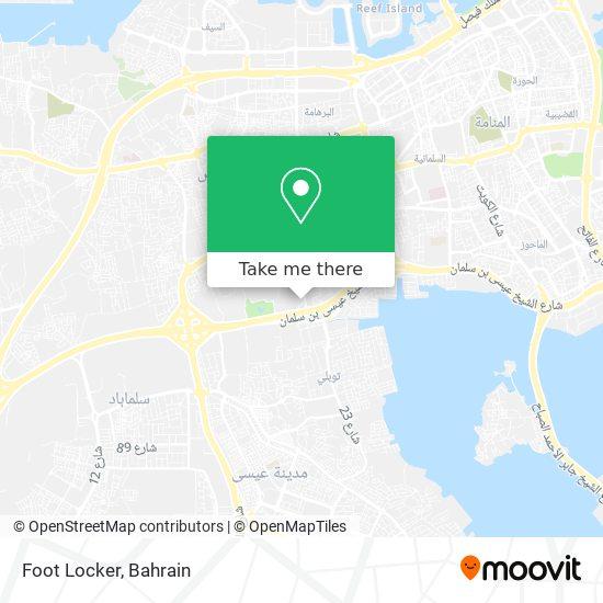 Foot Locker map