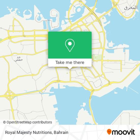 Royal Majesty Nutritions map