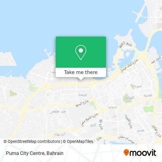 Puma City Centre map