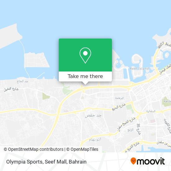 Olympia Sports, Seef Mall map