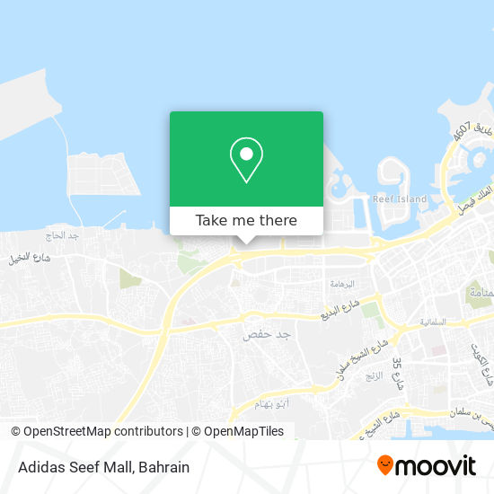 Adidas Seef Mall map