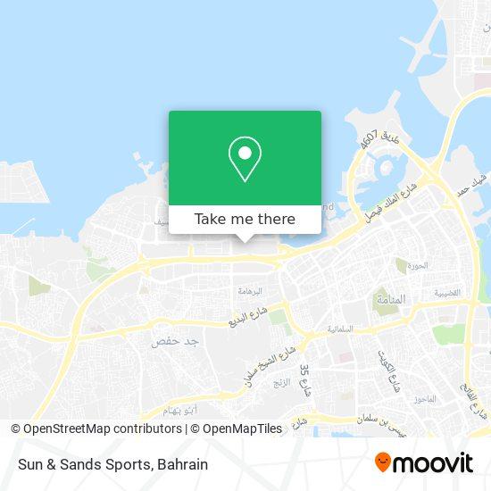 Sun & Sands Sports map