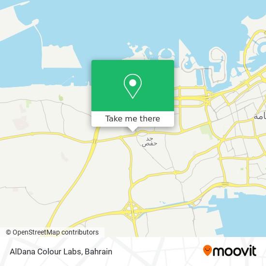 AlDana Colour Labs map