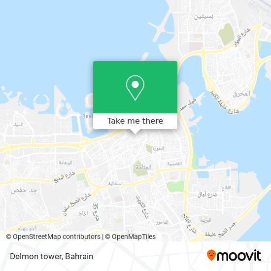 Delmon tower map