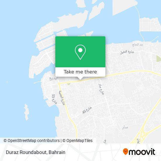 Duraz Roundabout map