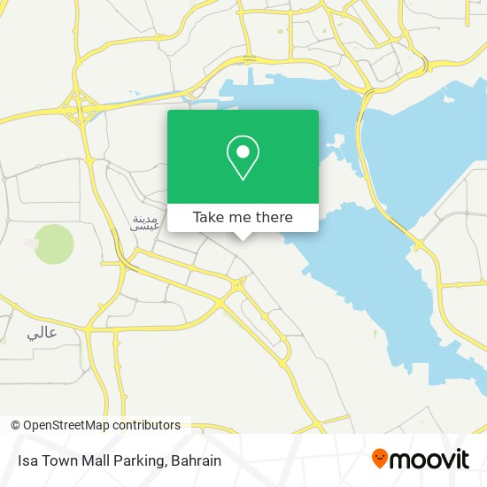 Isa Town Mall Parking map