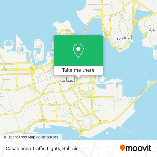 Casablanca Traffic Lights map