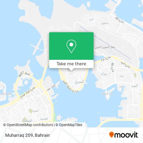 Muharraq 209 map