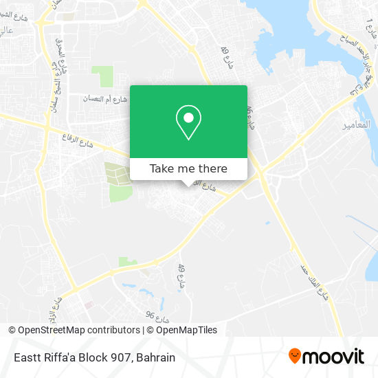 Eastt Riffa'a Block 907 map