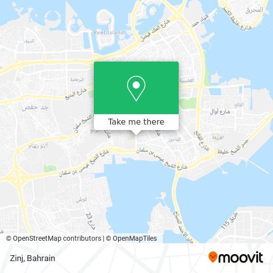 Zinj map