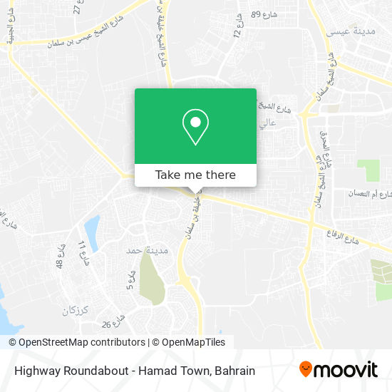 Highway Roundabout - Hamad Town map