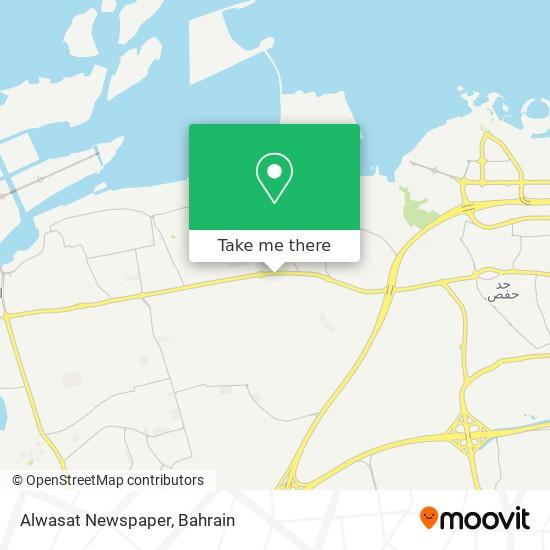 Alwasat Newspaper map
