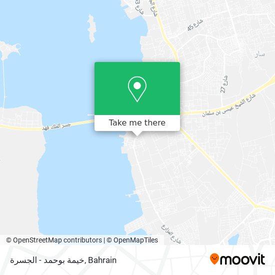 خيمة بوحمد - الجسرة map