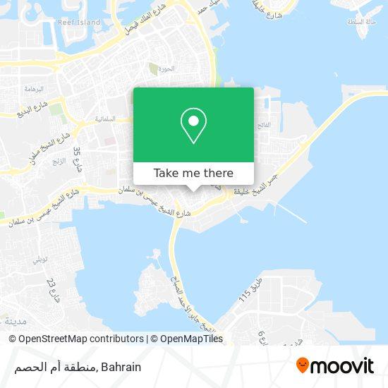 منطقة أم الحصم map