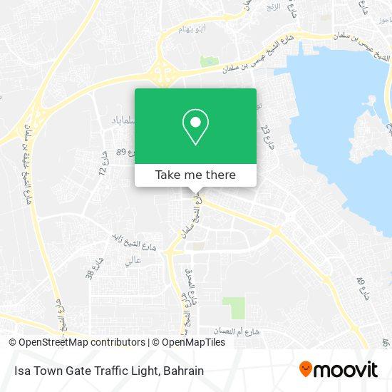 Isa Town Gate Traffic Light map