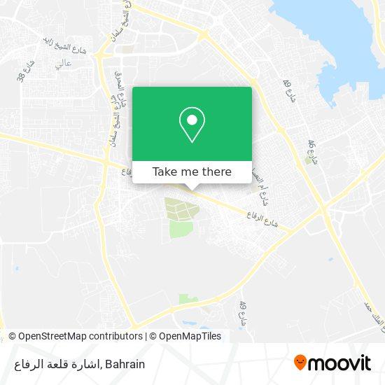 اشارة قلعة الرفاع map