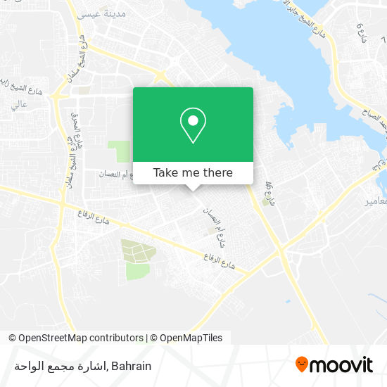 اشارة مجمع الواحة map