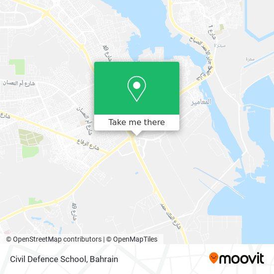 Civil Defence School map