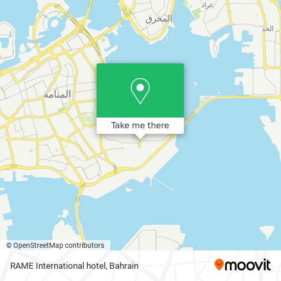 RAME International hotel map