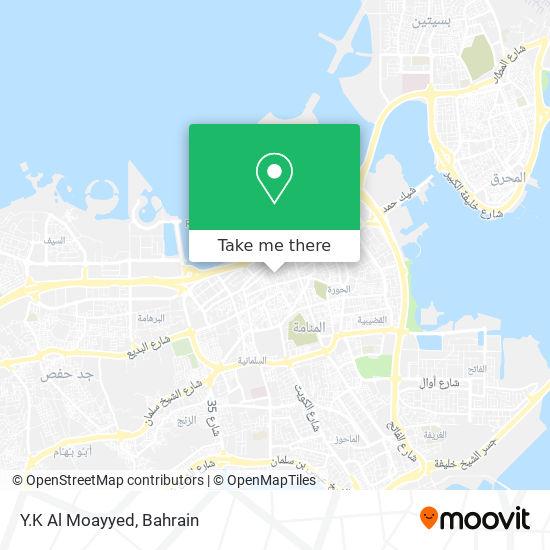 Y.K Al Moayyed map