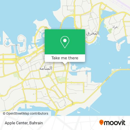 Apple Center map