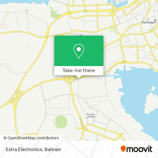 Extra Electronics map