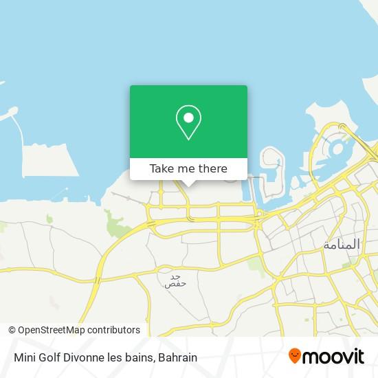 Mini Golf Divonne les bains map