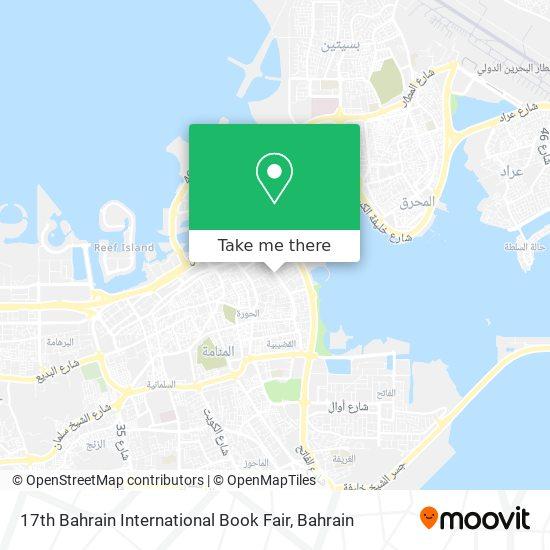 17th Bahrain International Book Fair map