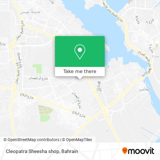 Cleopatra Sheesha shop map