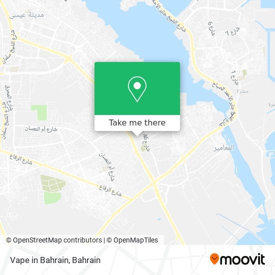 Vape in Bahrain map