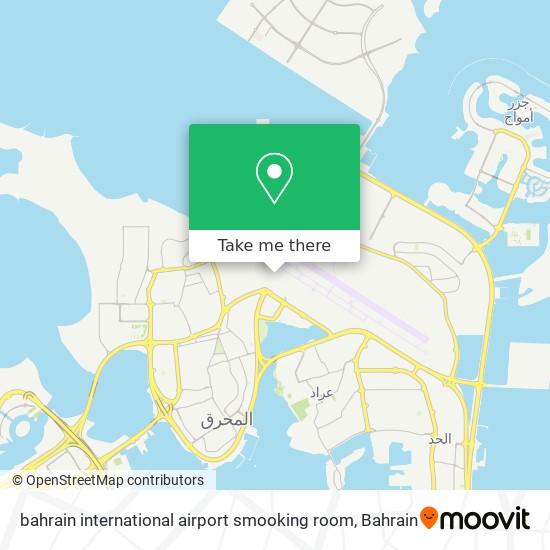 bahrain international airport smooking room map