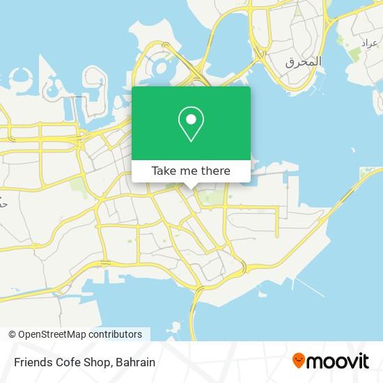 Friends Cofe Shop map
