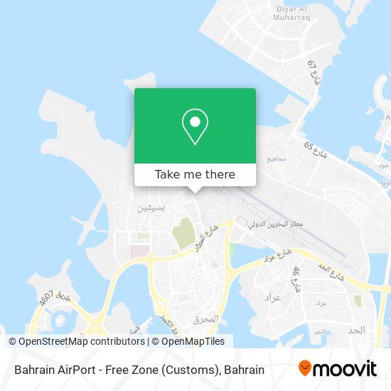 Bahrain AirPort - Free Zone (Customs) map