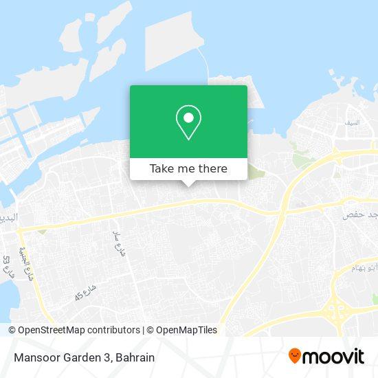 Mansoor Garden 3 map