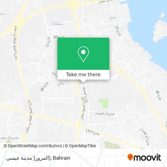 المرور( مدينة عيسى) map
