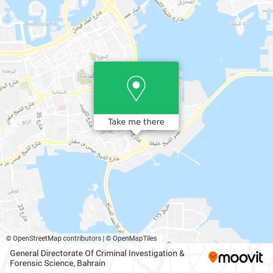 General Directorate Of Criminal Investigation & Forensic Science map