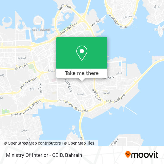 Ministry Of Interior - CEID map