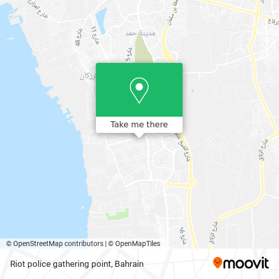 Riot police gathering point map
