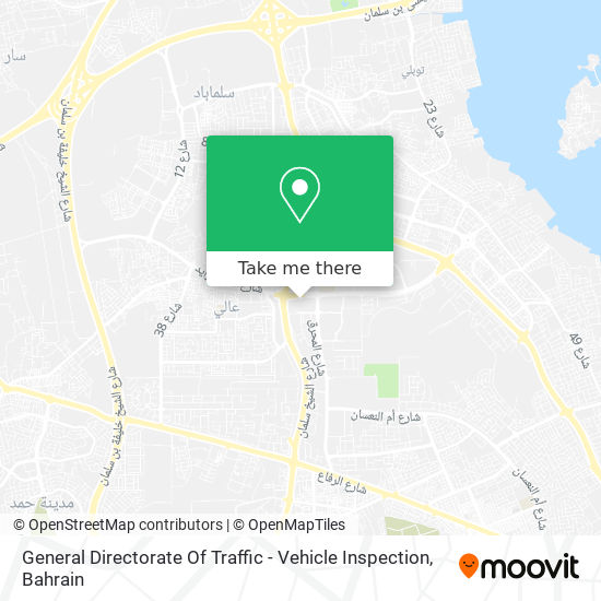 General Directorate Of Traffic - Vehicle Inspection map