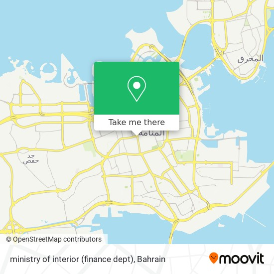 ministry of interior (finance dept) map