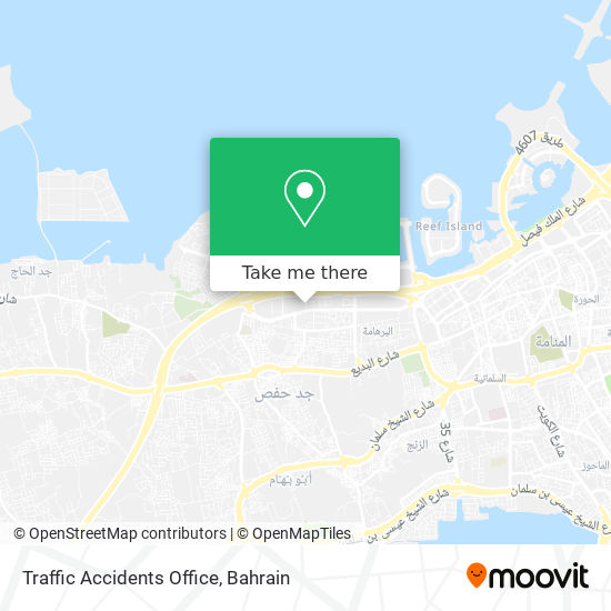 Traffic Accidents Office map