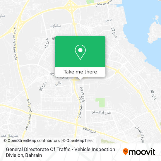 General Directorate Of Traffic - Vehicle Inspection Division map