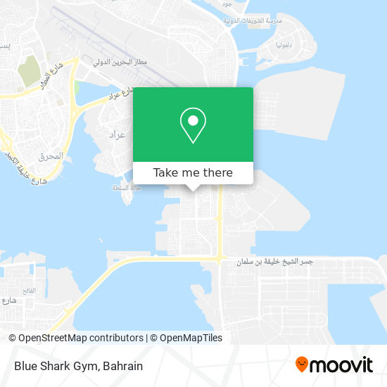 Blue Shark Gym map