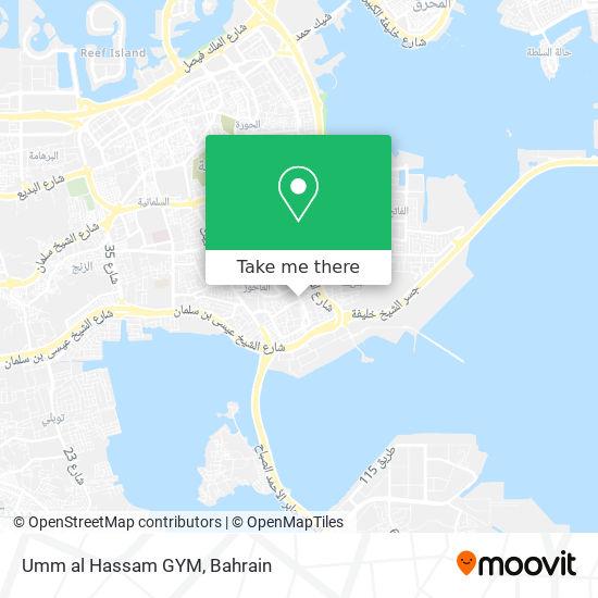 Umm al Hassam GYM map