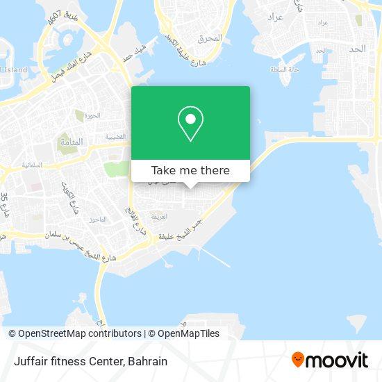 Juffair fitness Center map