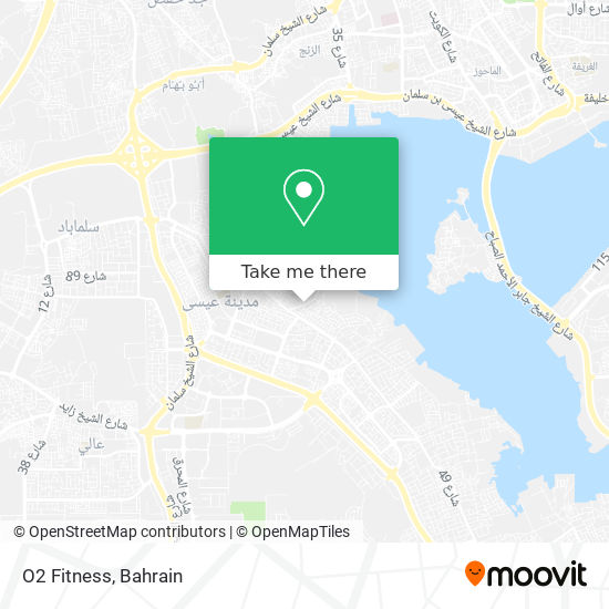 O2 Fitness map