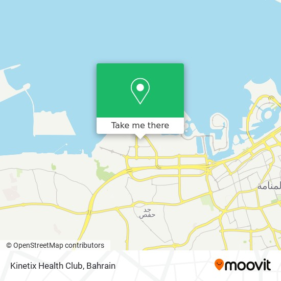 Kinetix Health Club map