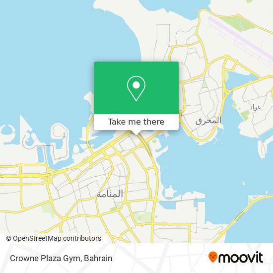 Crowne Plaza Gym map