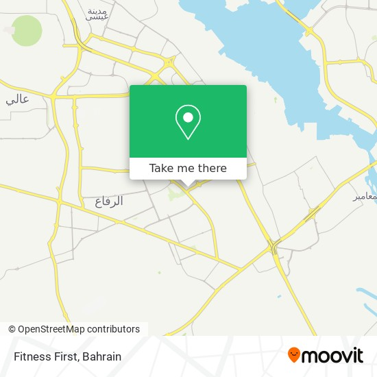 Fitness First map